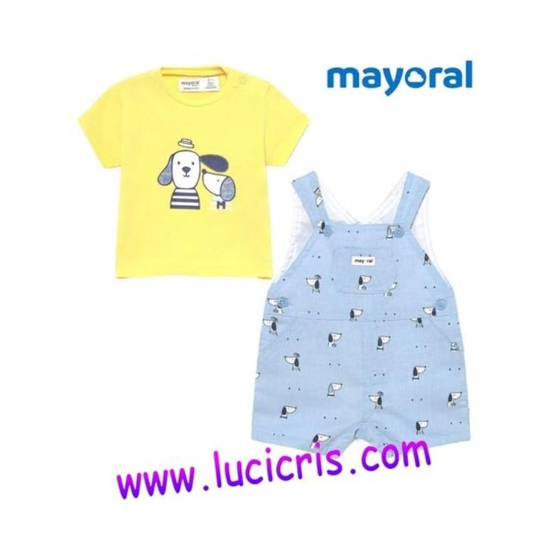 Conjunto Peto y Camiseta Amarilla Niño Bebé MAYORAL Color FRESH