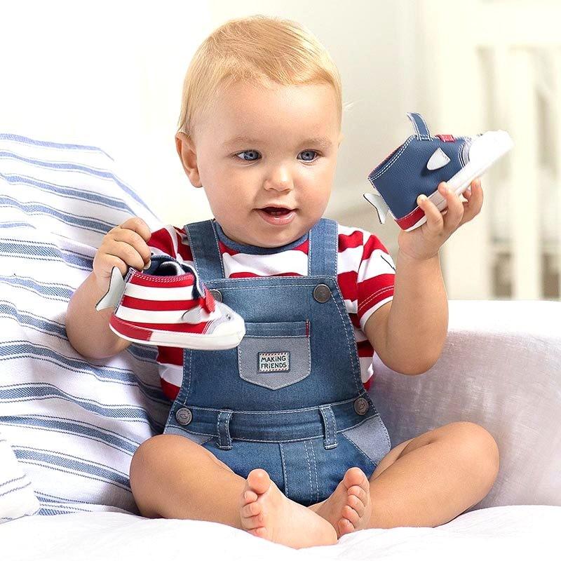 Peto Tejano y Camiseta Niño Bebé MAYORAL Color TOMATE