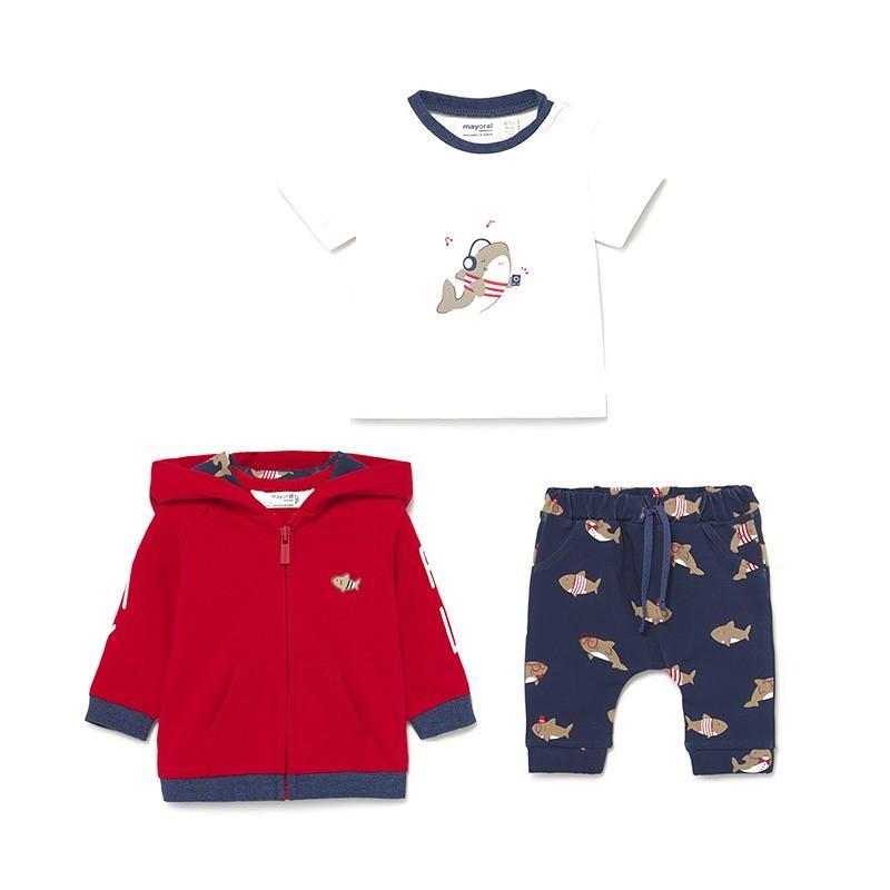 Conjunto Chándal Con Camiseta Bebé MAYORAL Color TOMATE