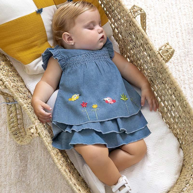 Conjunto Verano blusón tejano recién nacida niña MAYORAL