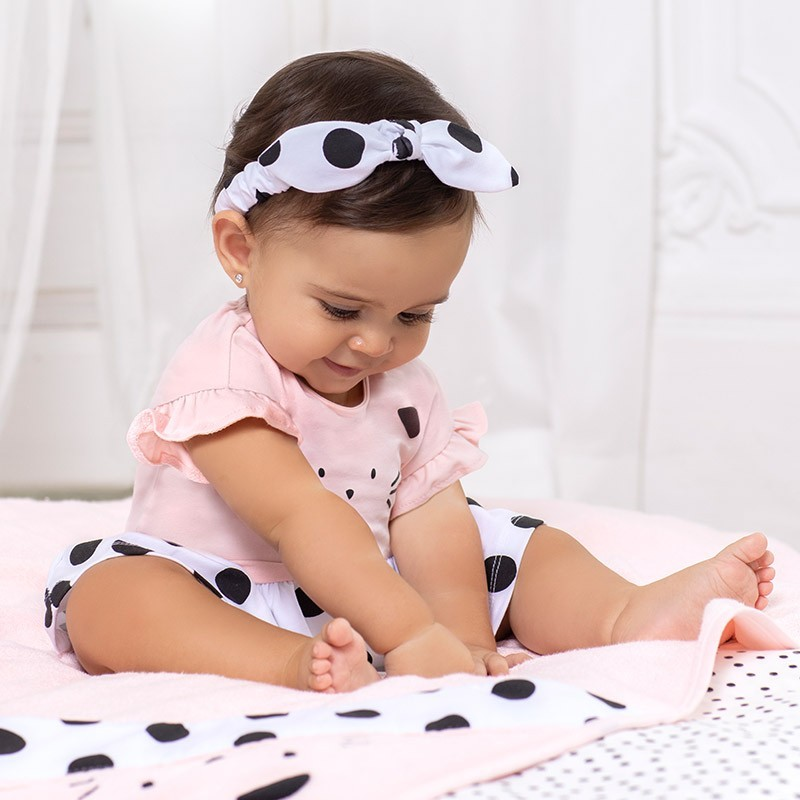 Pelele Punto con Diadema Bebé Niña MAYORAL Color NEGRO