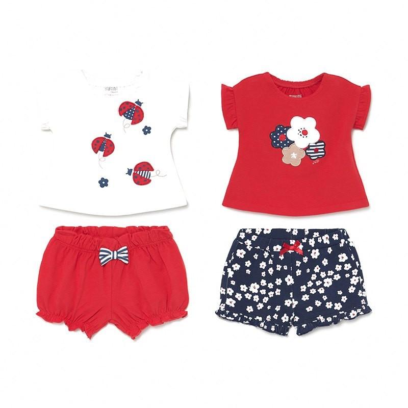 Conjunto 4 Piezas Verano Niña Bebé MAYORAL Color ROJO