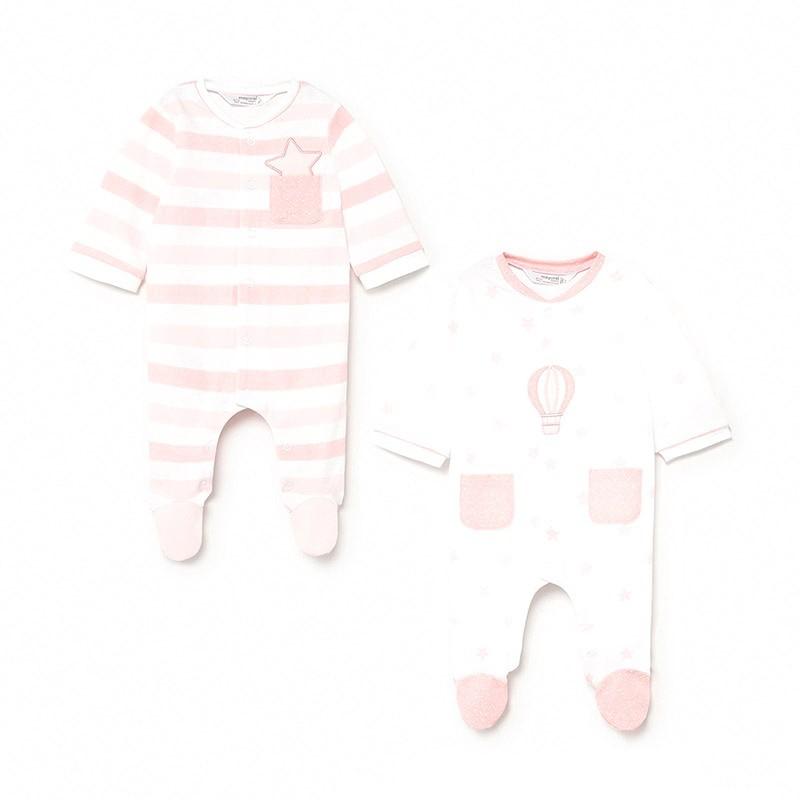 Set 2 Pijamas Punto Recién Nacida Niña MAYORAL Color CANDY