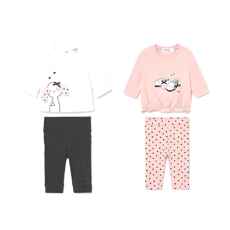 Conjunto 4 Piezas Niña Bebé MAYORAL Color PALE