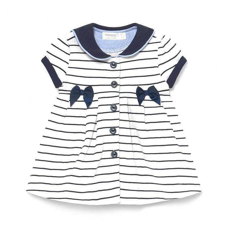 Vestido Marinero de Punto Bebé Niña MAYORAL Color NAVY
