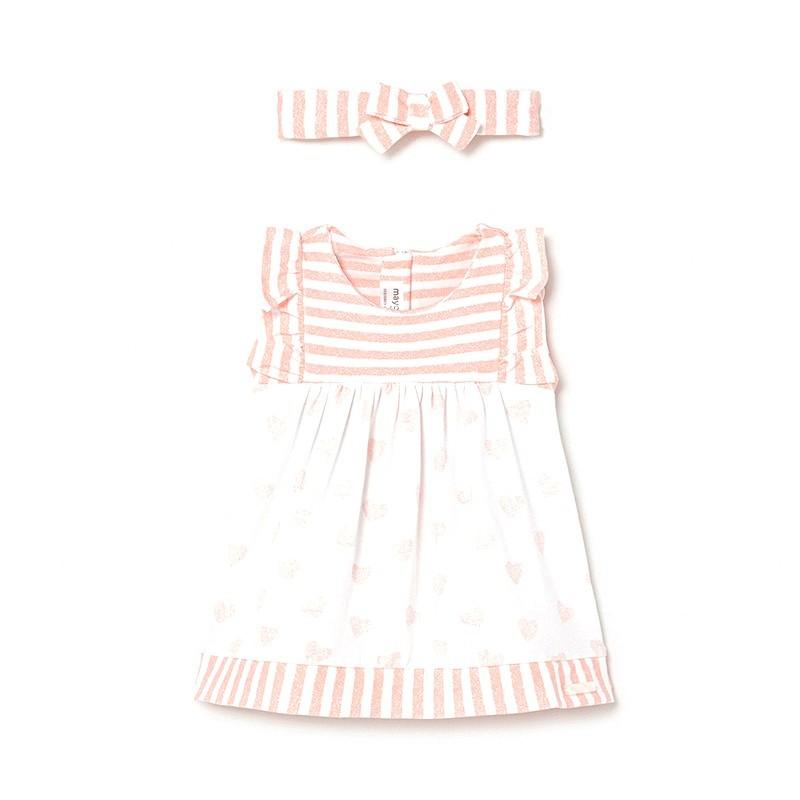 Vestido con Diadema Combinado Bebé Niña MAYORAL Color Candy