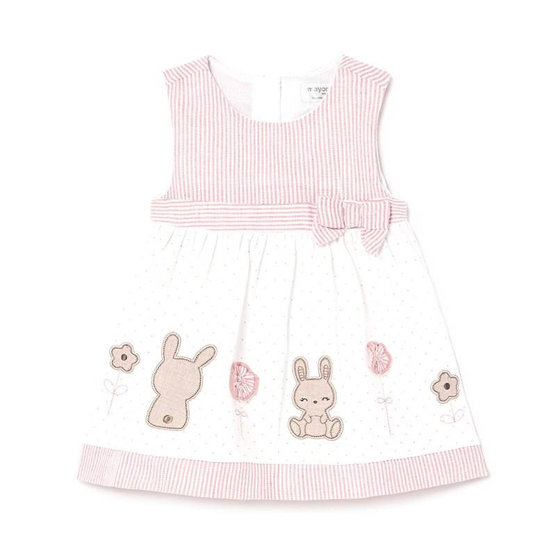 Vestido Combinado de Punto Bebé Niña MAYORAL Color CANDY
