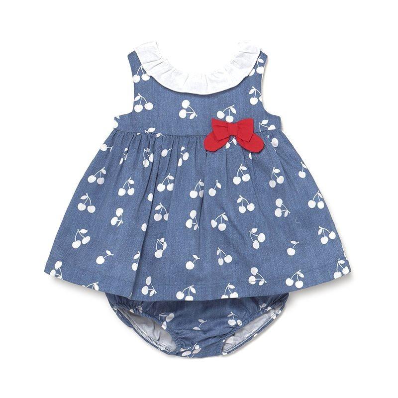 Vestido con Braguita Combinado Bebé Niña MAYORAL Color INDIGO