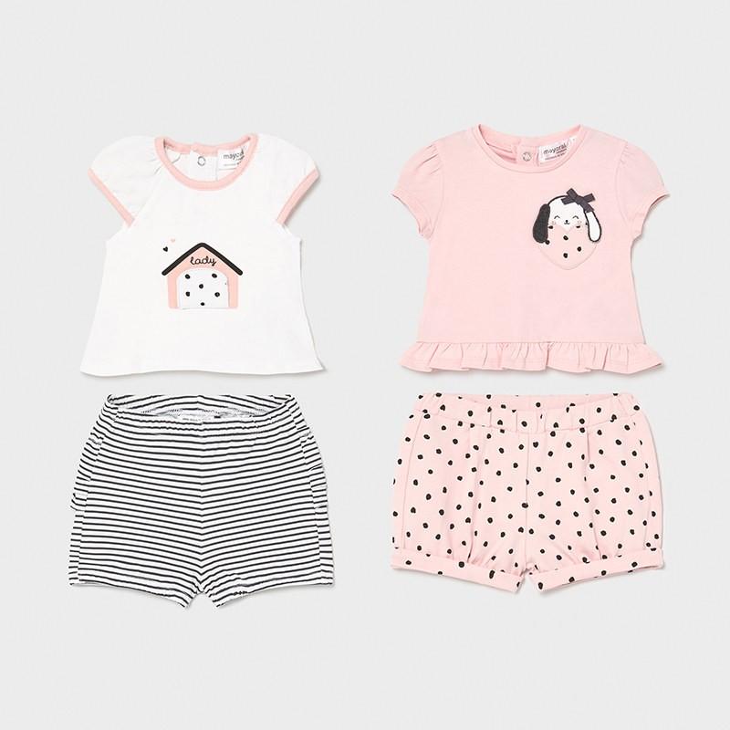 Conjunto 4 Piezas Verano Bebé Niña MAYORAL Color PALE
