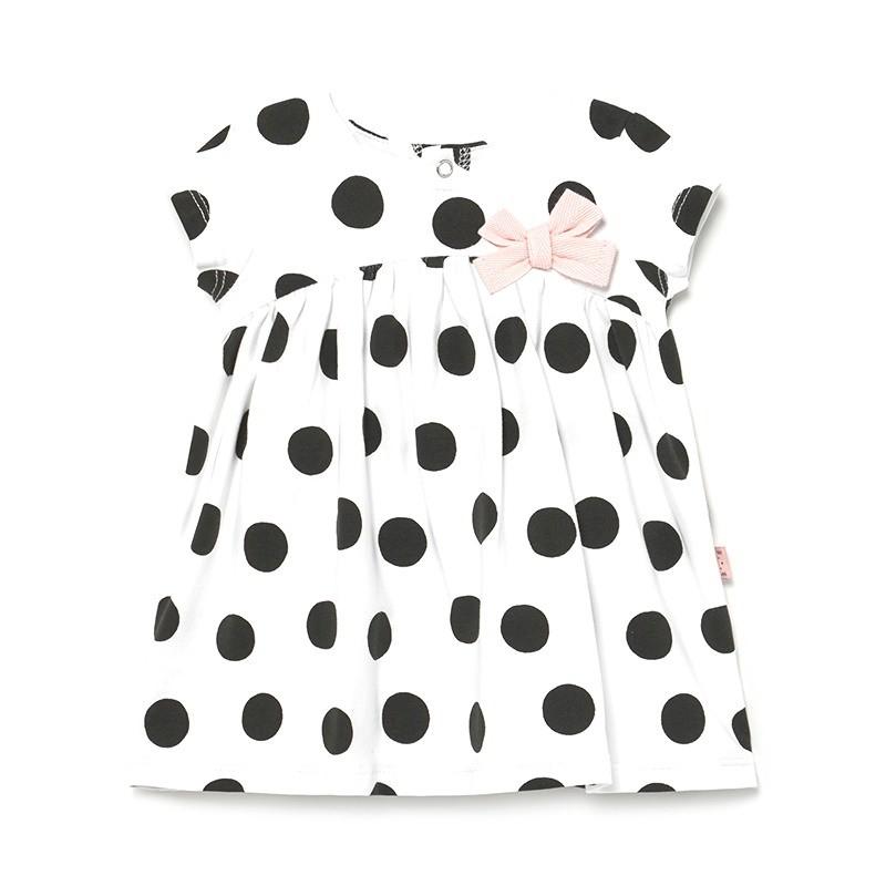 Vestido Lunares para Bebé Niña MAYORAL Color NEGRO