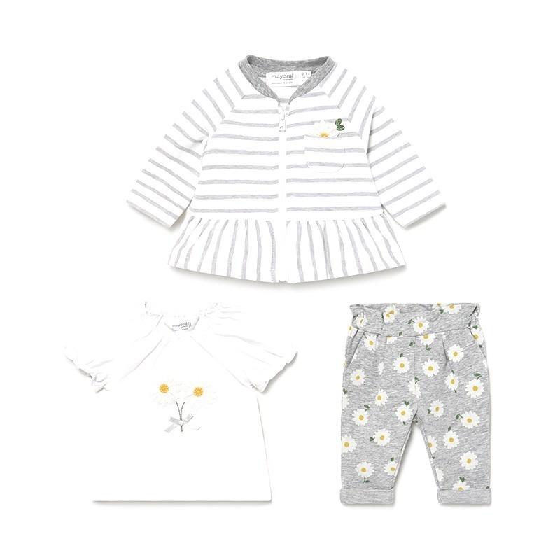Chandal con Camiseta Bebé Niña MAYORAL Color SILVER