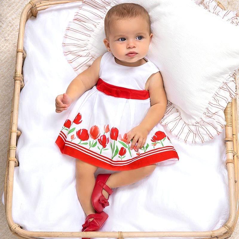 Vestido Cenefa para Bebé Niña MAYORAL Color ROJO