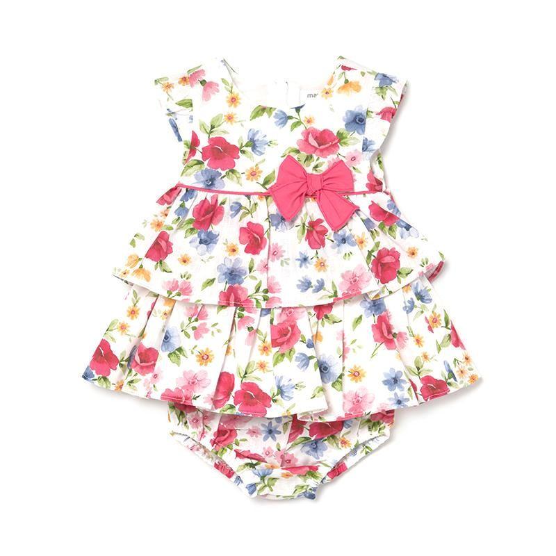 Vestido Estampado Bebé Niña MAYORAL Color FRAGOLA
