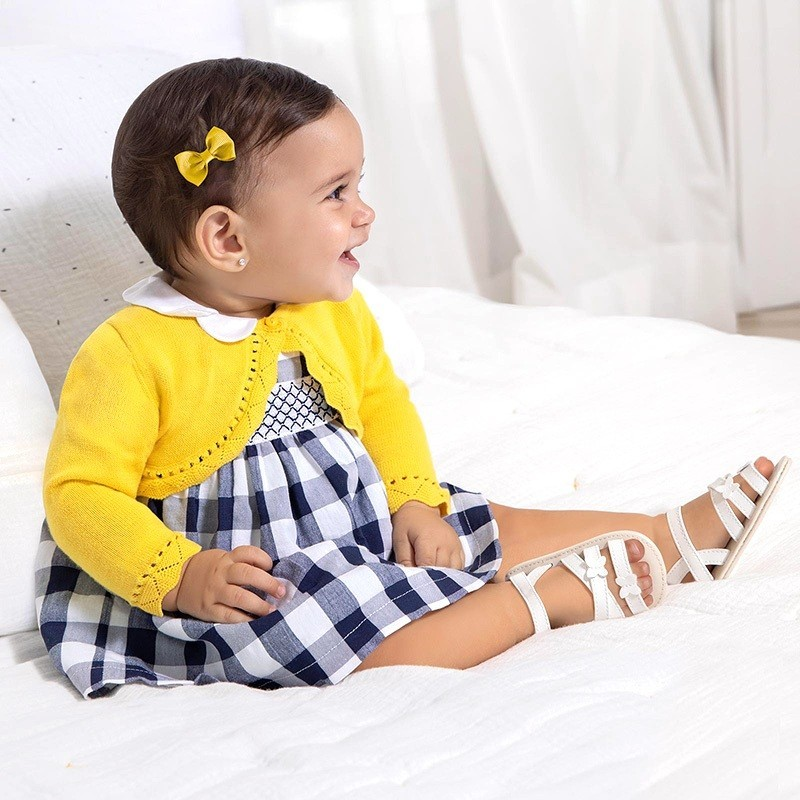 Vestido de Cuadros Bebé Niña MAYORAL Color NAVY