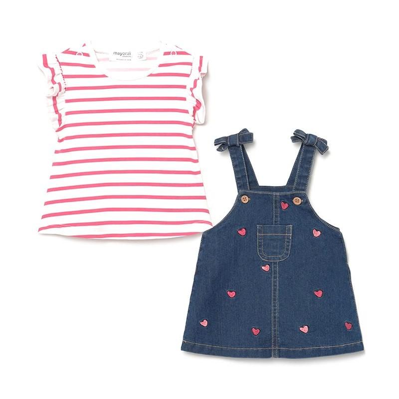 Conjunto Falda Peto y Camiseta Bebé Niña MAYORAL Color MEDIO