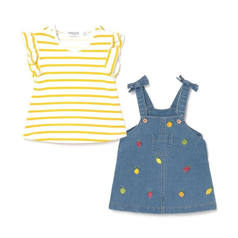 Conjunto Falda Peto y Camiseta Bebé Niña MAYORAL Color BLEACHED