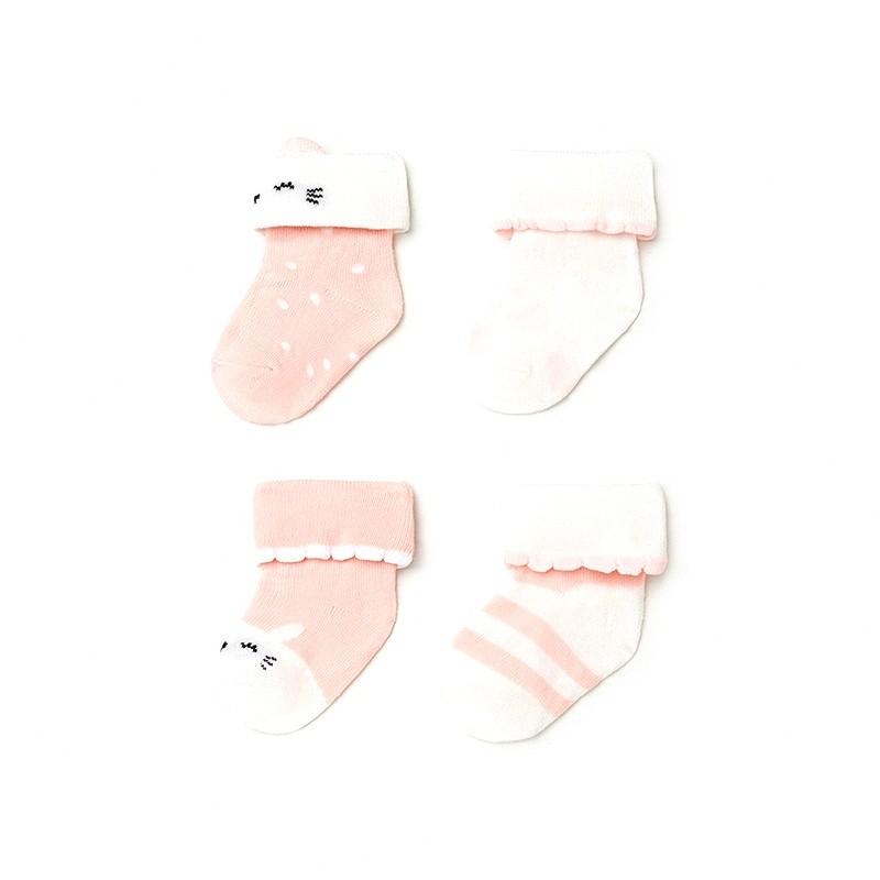 Set 4 Calcetines para Bebé Niña MAYORAL Color ROSA