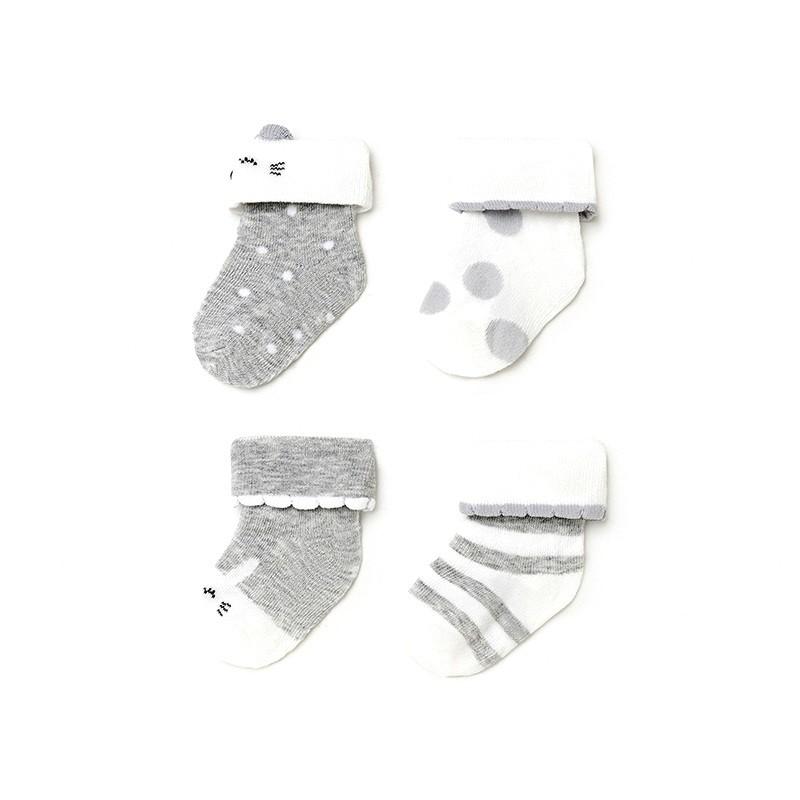 Set 4 Calcetines para Bebé Niña MAYORAL Color SILVER