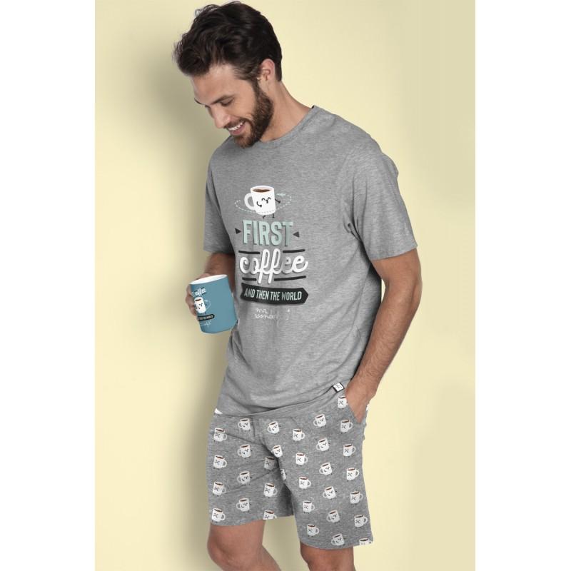 Pijama Corto de Verano Hombre MR WONDERFUL CAFE