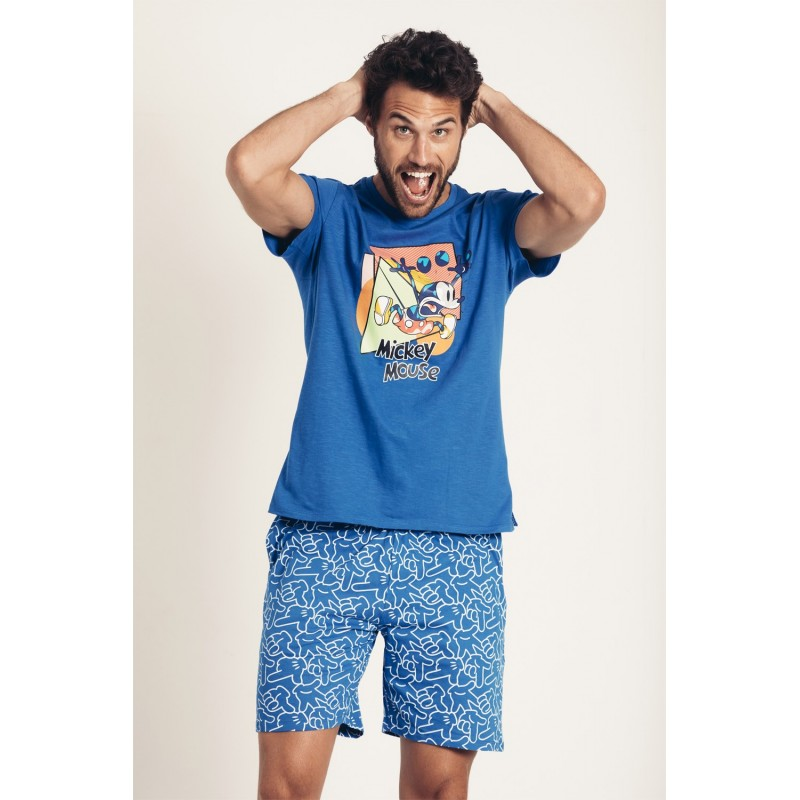 Pijama  Verano Hombre DISNEY Mickey Mouse Azul
