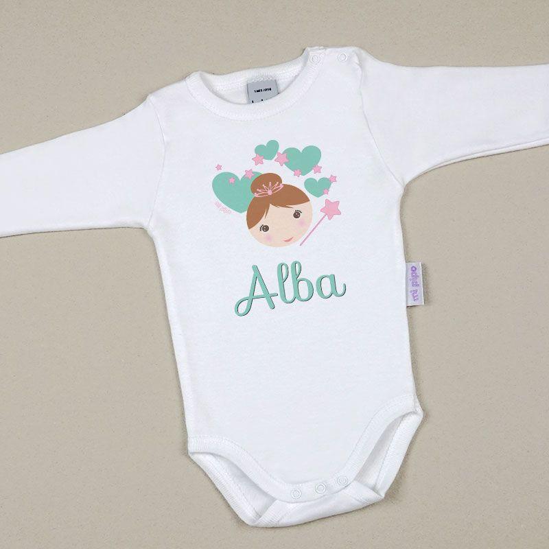 Body Bebé Personalizado con nombre estampado Hada