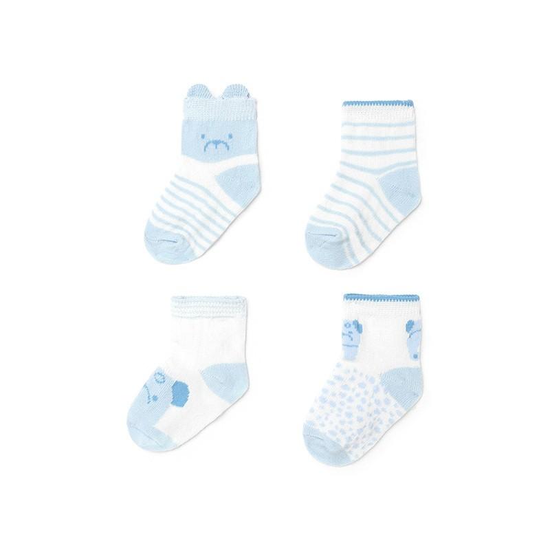 Pack 4 Calcetines para Bebé Recién Nacido MAYORAL Color CIELO