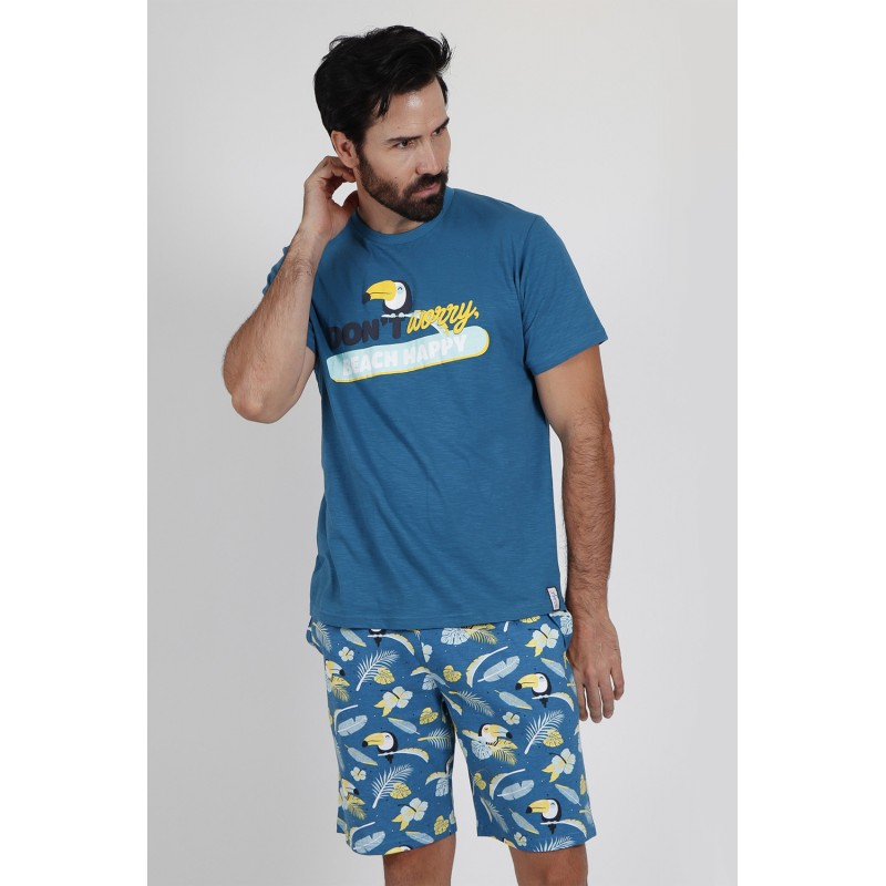 Pijama Corto Hombre MR WONDERFUL TUCAN