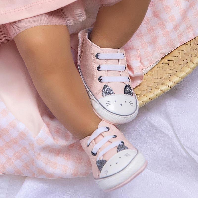 Deportivas Gatito para Bebé Niña MAYORAL Color PALE