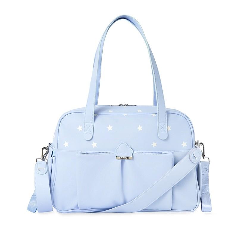 Bolso Maternidad Estrellas Recién Nacido MAYORAL Color BABY BLUE