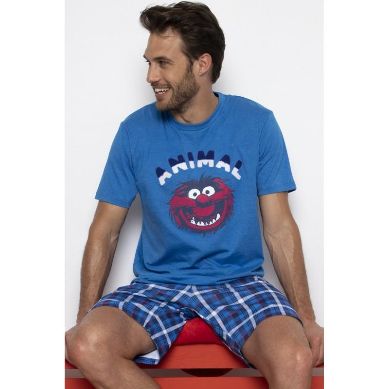 Pijama Hombre Verano Disney ANIMAL BANG Color Azul