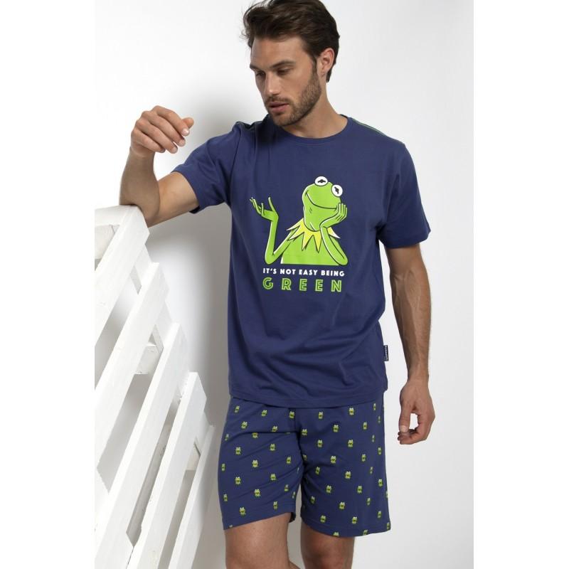 Pijama Hombre Verano DISNEY Rana Gustavo Color Marino