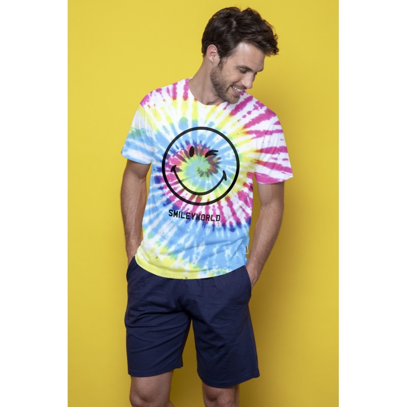 Pijama Hombre Verano SMILEY Color Multicolor