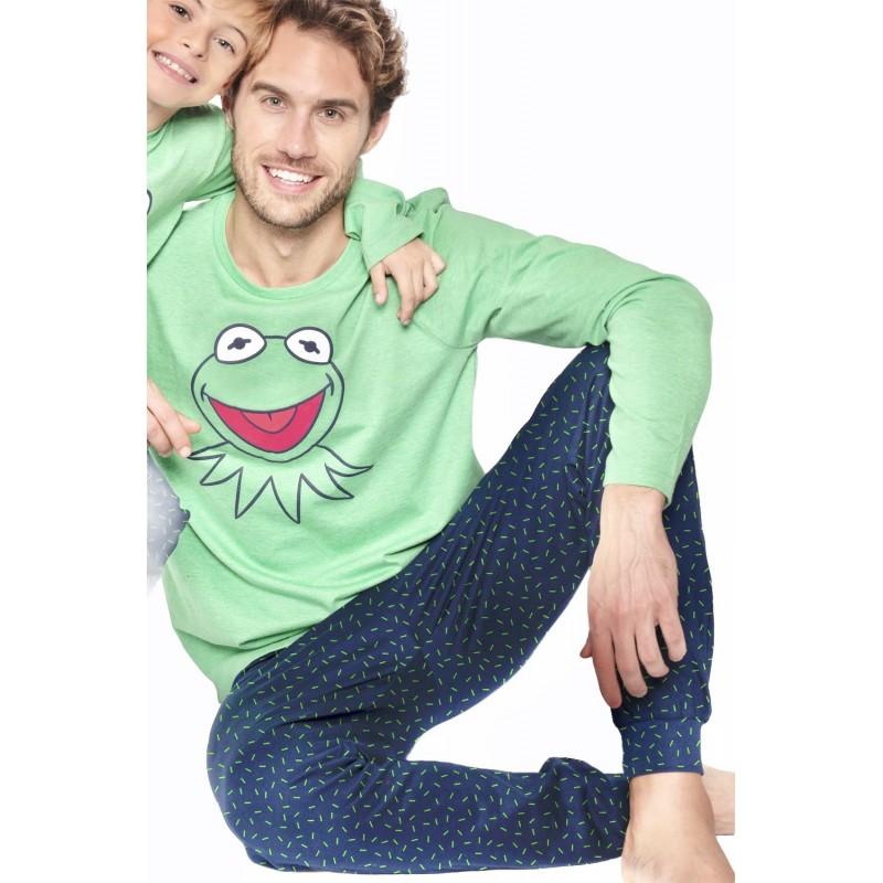 Pijama Hombre Invierno DISNEY Rana Gustavo Color Verde