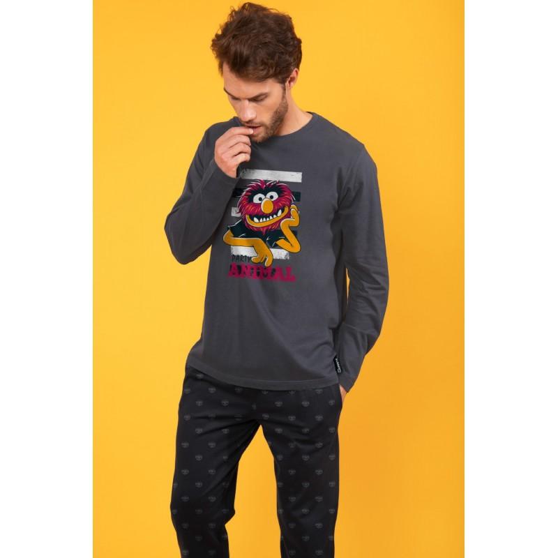 Pijama Hombre Invierno DISNEY Animal Bang Color Antracita