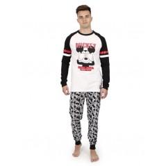 Pijama Hombre Invierno DISNEY Mickey Mouse Color BLANCO