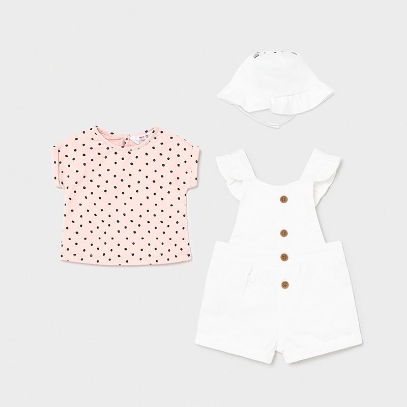Conjunto Peto y Gorro para Bebé Niña MAYORAL Color BLANCO
