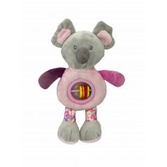 Muñeco Sonajero Koala Bebé color ROSA