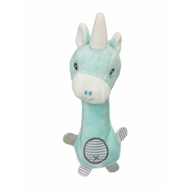 Muñeco Sonajero Unicornio Bebé color VERDE