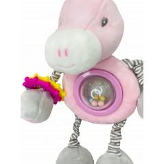 Muñeco Sonajero Mordedor UNICORNIO Bebé color ROSA