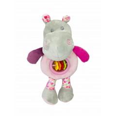 Muñeco Sonajero Hipopótamo Bebé ROSA