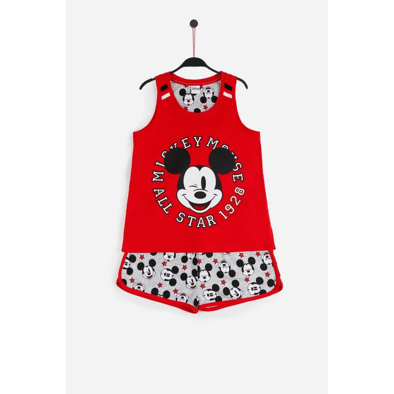 Pijama de Verano para Niña DISNEY Mickey Mouse