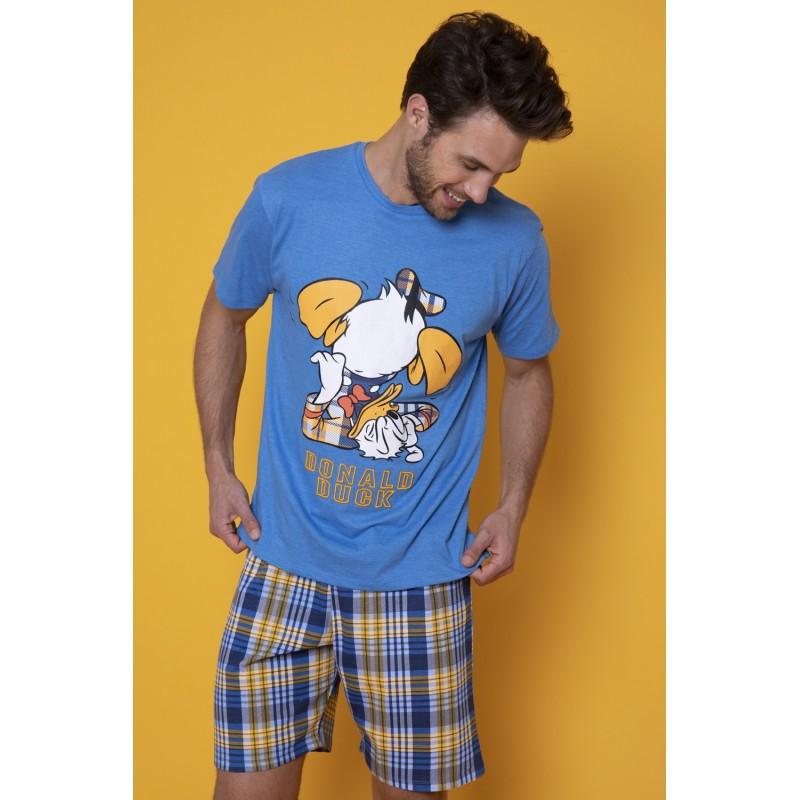 Pijama Hombre de Verano DISNEY Pato Donald Color Azul