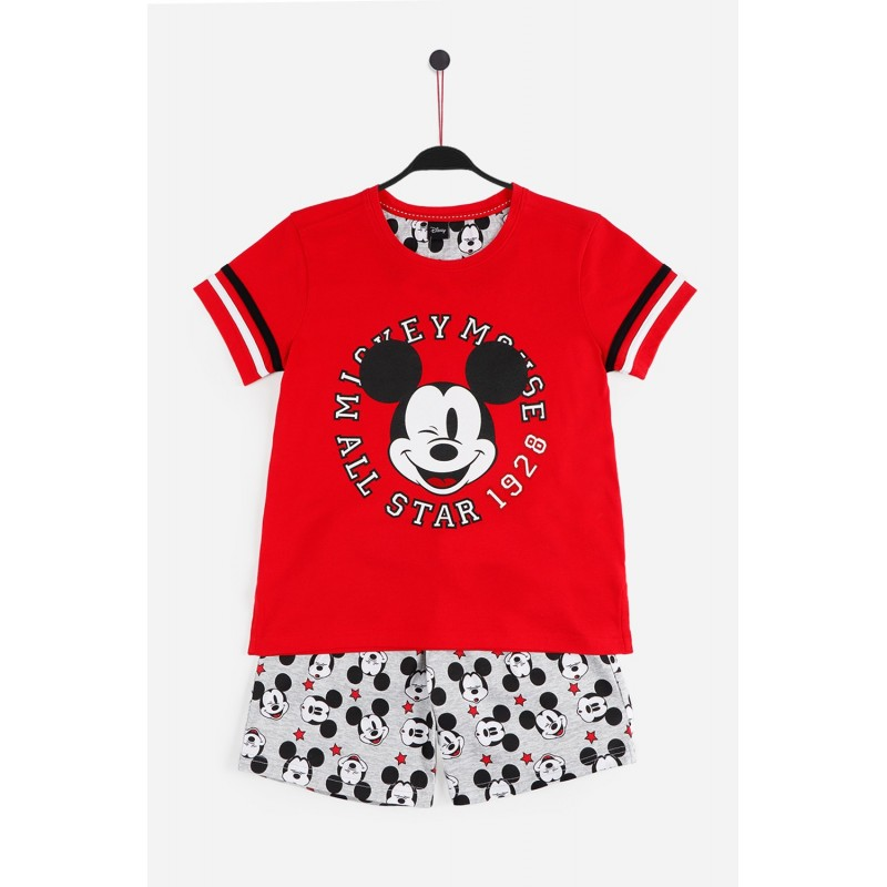 Pijama de Verano para Niño DISNEY Mickey Mouse Color ROJO