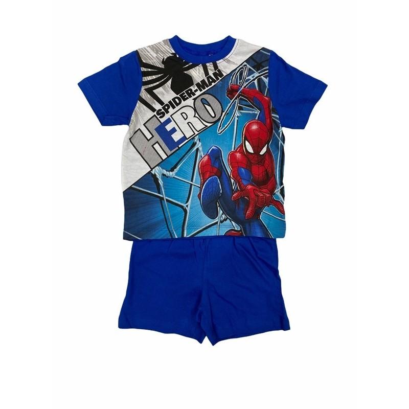 Pijama de Verano para Niño SPIDERMAN Color AZUL