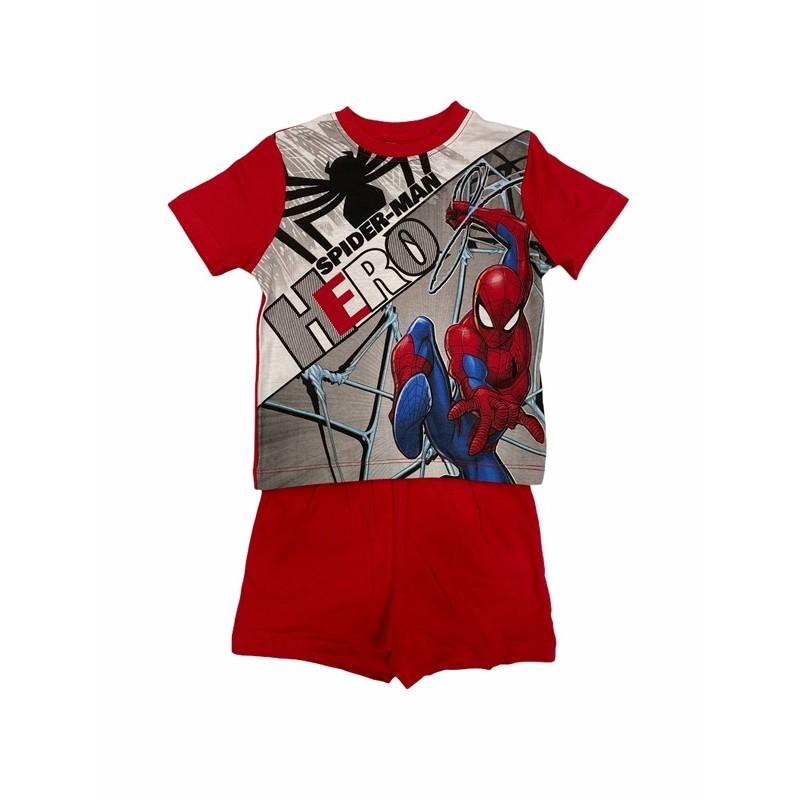 Pijama de Verano para Niño SPIDERMAN Color ROJO
