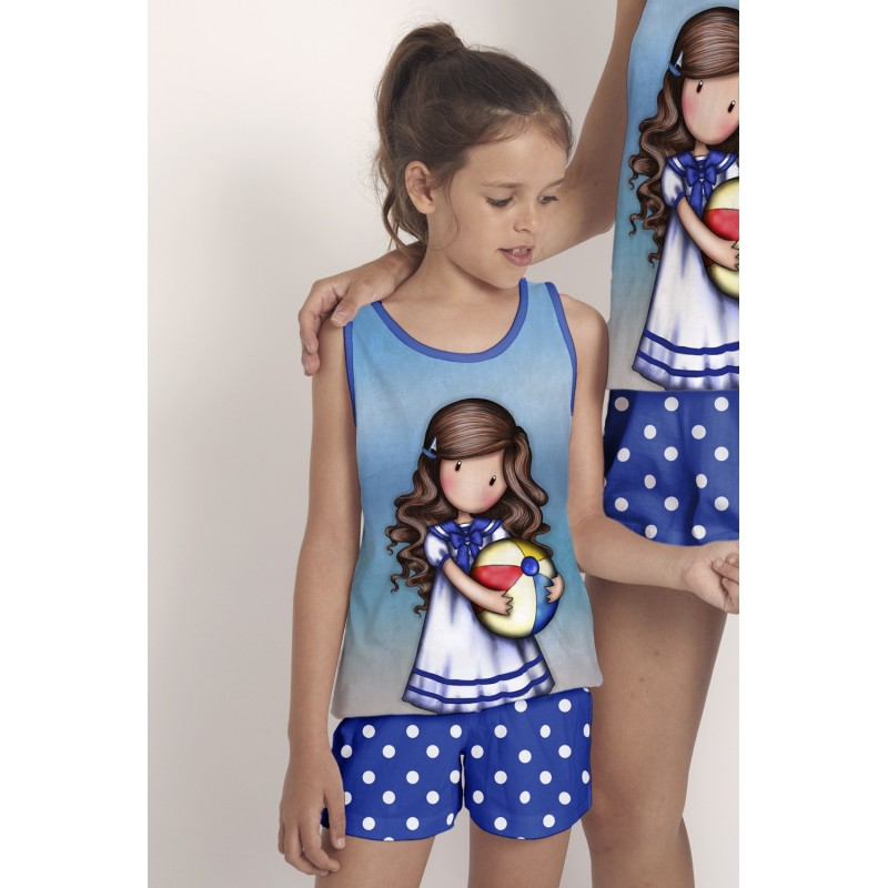 Pijama de Verano para Niña GORJUSS Color Azul