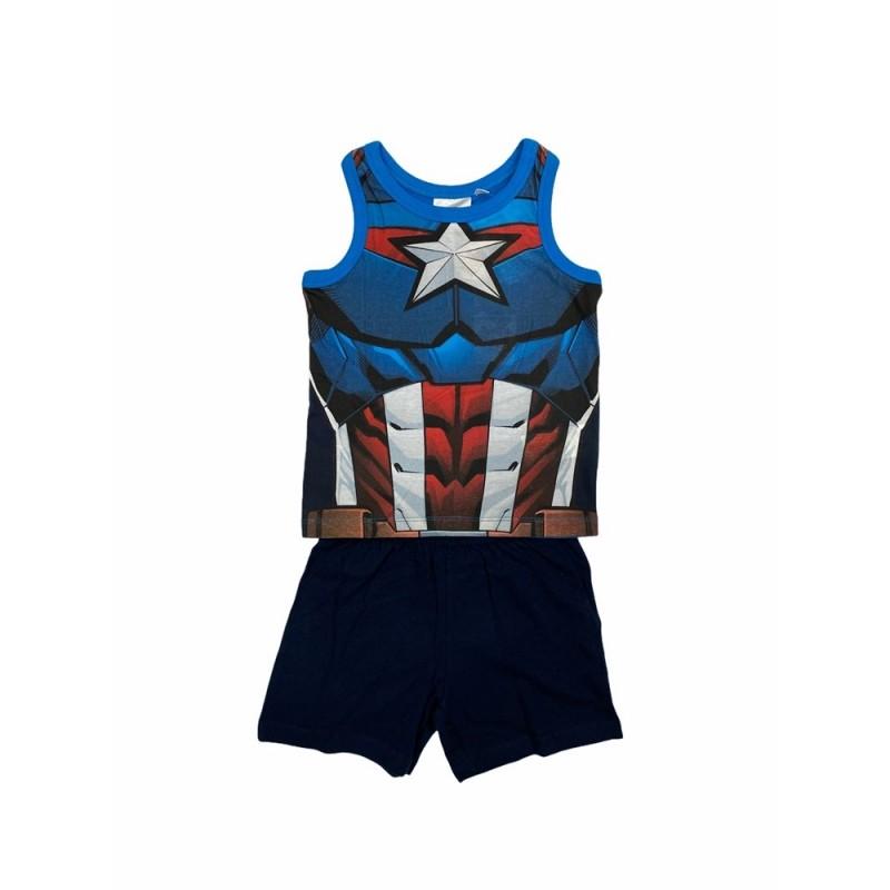 Pijama Verano Niño de MARVEL Vengadores Capitán América