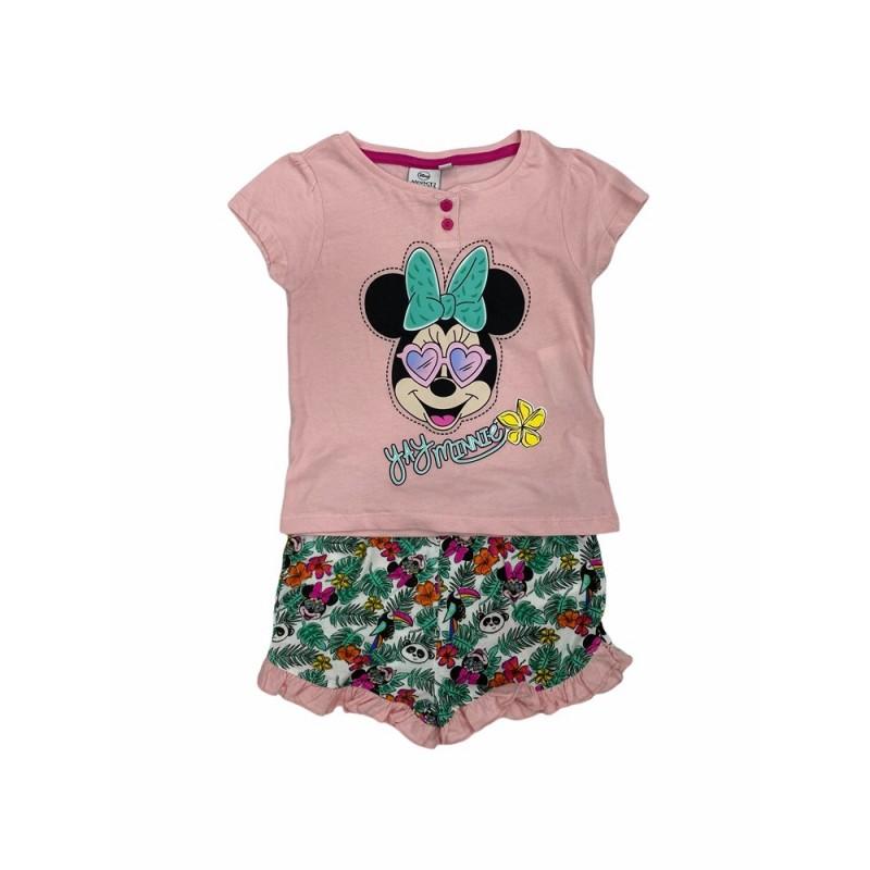Pijama de Verano para Niña DISNEY Minnie Mouse Color Rosa