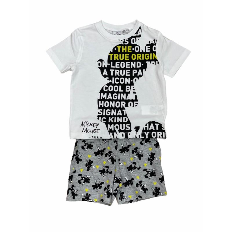 Pijama de Verano para Niño DISNEY Mickey Mouse Color BLANCO