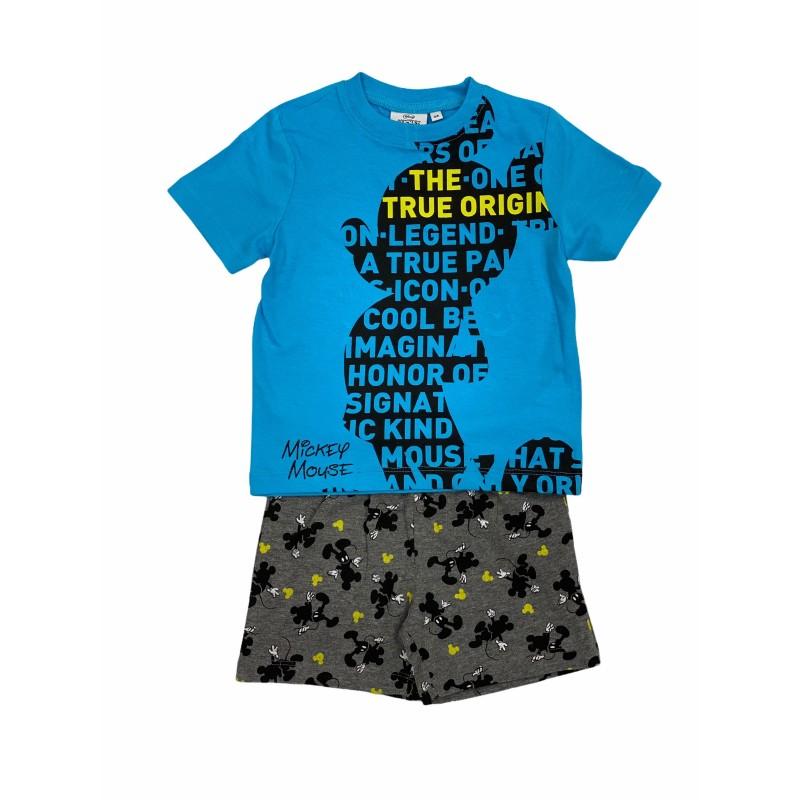 Pijama de Verano para Niño DISNEY Mickey Mouse Color AZUL